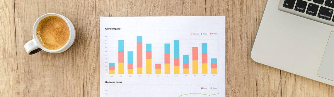 Diagram mit statistischer Auswertung